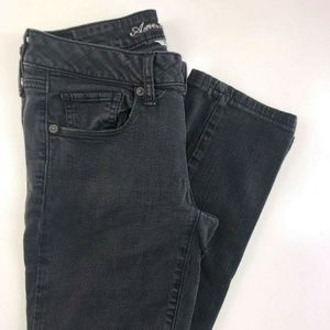 American Eagle Skinny Black Low Rise Jeans AW15